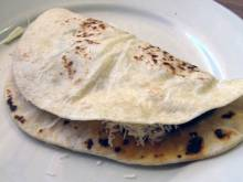 Baleadas (Honduran flour tortillas with beans and cheese)