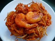 Ukoy (Filipino shrimp and sweet potato fritters)