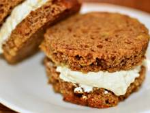 Boston brown bread with cream cheese