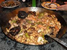 A pan of migas murcianas