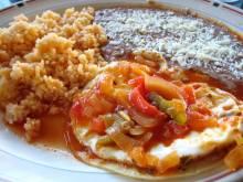 Plate of Mexican huevos rancheros