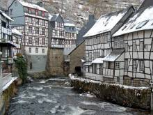 German village of Monschau in winter