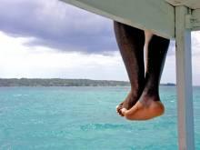 Dangling legs in Jamaica