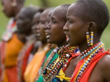 Kenyan Masai women singing