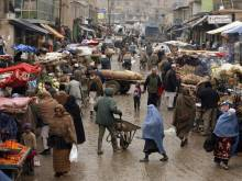 Afghan market and vendors