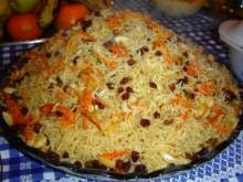 Kabuli Pulau (Afghan rice and lamb pilaf)
