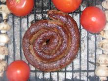 South African boerewors on the grill