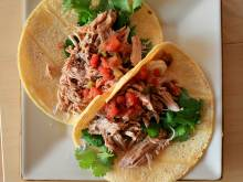 Tacos with pork carnitas