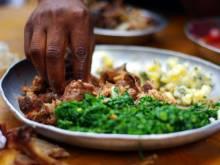 A plate of nyama choma
