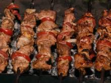 Shashlik (Central Asian grilled skewered lamb)