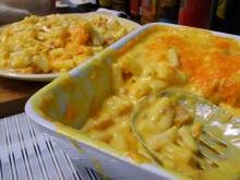 Dish of macaroni and cheese