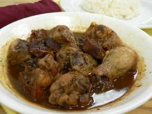 Adobong Manok (Philippine chicken in vinegar sauce)