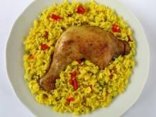 Arroz con pollo Puerto Rican chicken and rice