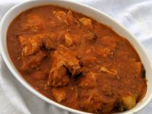 South African chicken in tomato gravy