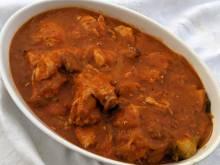 South African chicken in tomato gravy