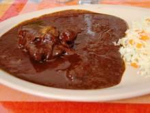 Plate of mole poblano