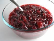Bowl of cranberry sauce