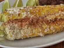 Elotes Asados (Mexican roast corn on the cob)