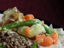 Yataklete Kilkil (Ethiopian gingered vegetable stew)