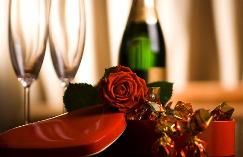 Valentine's Day gift of chocolates