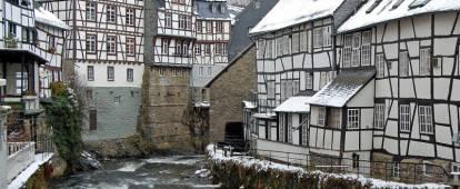 German village of Monschau in winter