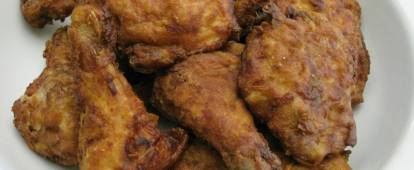 A plate of Southern fried chicken