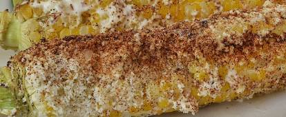 Elotes Asados (Mexican roast corn on the cob)