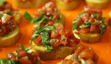 Bruschetta alla Romana (Italian grilled bread with tomatoes)