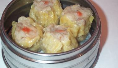 Pork filling in siu mai