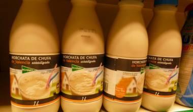 Bottles of horchata de chufa