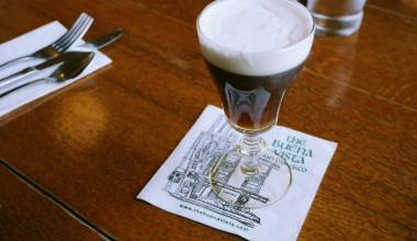 An Irish coffee at the Buena Vista in San Francisco