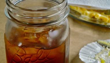 Southern sweet tea in a Ball jar