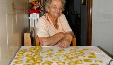 Grandma with ravioli