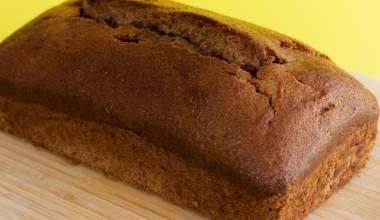 Loaf of banana bread