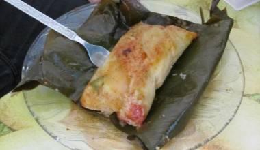 Freshly steamed nacatamal