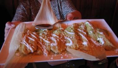 A platter of tamales de elote