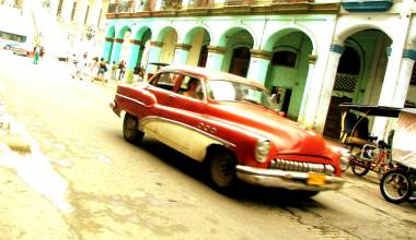 Vintage car on Havana street