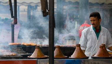 Tagine vendor in Morocco