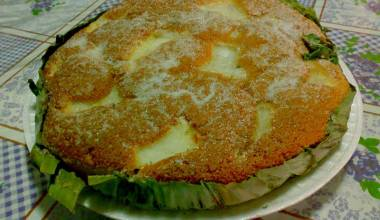 Bibingka Especial (Filipino sweet coconut and rice flour cake)
