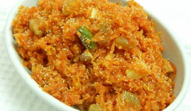 Gajar halwa sweet carrot pudding
