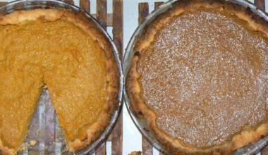 Freshly baked homemade pumpkin pies