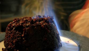 Christmas steamed pudding