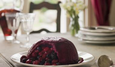 Summer Pudding (English berry and bread dessert)