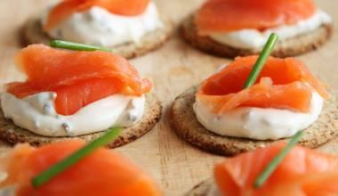 Gravlax salmon appetizers