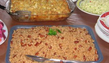 Diri ak Pwa (Haitian red beans and rice)