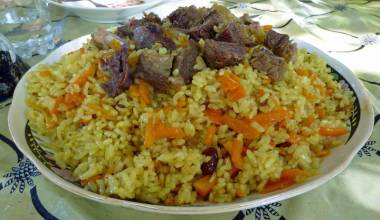 Plov (Uzbek rice pilaf with lamb or beef)