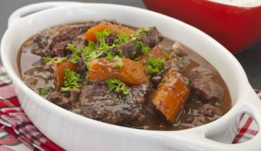 Daube de Boeuf Provencale (French Provencal beef braised in red wine)