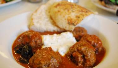 Keftedes Greek meatballs in tomato sauce