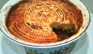 Shepherd's Pie (English-Irish meat pie with mashed potato topping)