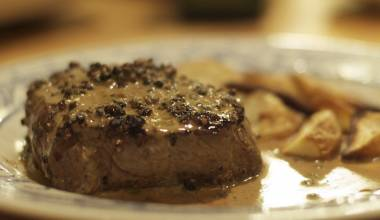 Steak au Poivre (French pepper steak)